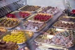 Variedade dos chocolates Foto de Stock Royalty Free