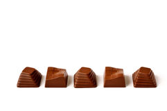 Variedade dos chocolates foto de stock