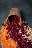 Variedade dos feijões, close up Imagens de Stock Royalty Free