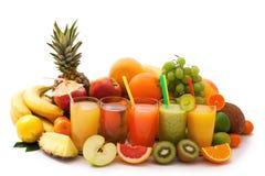 Variedade dos frutos exóticos isolados no branco Imagem de Stock Royalty Free