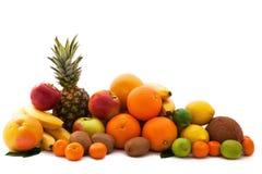 Variedade dos frutos exóticos isolados no branco Fotos de Stock