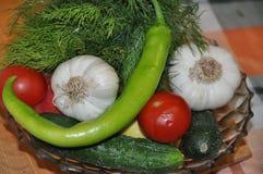 Variedade dos legumes frescos bio Fotografia de Stock
