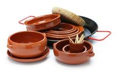 Variedade espanhola dos utensílios de mesa Fotografia de Stock Royalty Free