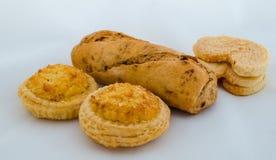 Variedade isolada do pão Imagens de Stock Royalty Free