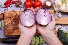 Variedade natural de vegetais imagens de stock royalty free