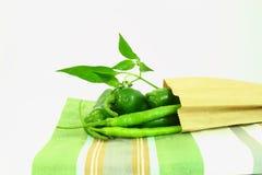 variedades das pimentas de pimentão Imagens de Stock Royalty Free