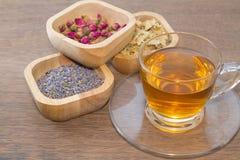 Variedades de chá da flor imagens de stock