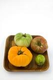 Variedades de la herencia del tomate Fotografía de archivo