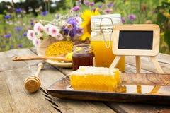 Variedades de la miel Foto de archivo