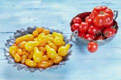 Variedades de tomates Imagens de Stock Royalty Free