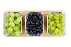 Variedades diferentes da uva fotos de stock