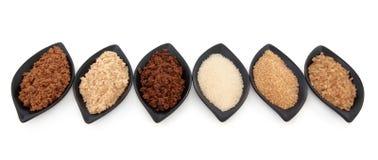 Variedades do açúcar Fotografia de Stock