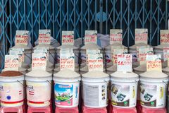 Variedades do arroz no mercado asiático Imagens de Stock Royalty Free