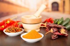 Variedades picantes do pimentão do aji dos pimentões fotografia de stock royalty free