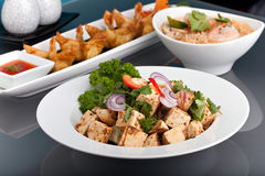 Variedades tailandesas frescas do alimento Fotografia de Stock