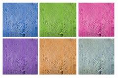 Varieer kleur waterdrop op waterkruik Stock Foto