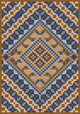 Variegate geometric pattern for rug. Royalty Free Stock Photo