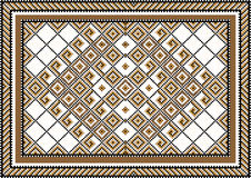 Variegate geometric pattern for rug.Illustration. Royalty Free Stock Image