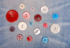 Variegated buttons. Royalty Free Stock Photography