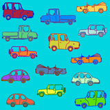 Variegated cars Stock Photos