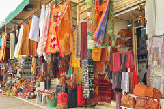 Variegated colors of oriental bazaar Royalty Free Stock Images