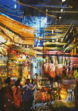 Variegated colors of oriental market Stock Photography