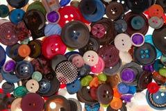 variegated costurando botões Fotografia de Stock Royalty Free