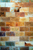 Variegated cut stone wall Stock Photo