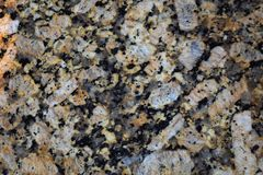 Variegated granite slab Stock Photography