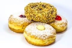 Variery of fresh donuts Royalty Free Stock Photos