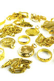 Varies Gold Jewelry Royalty Free Stock Image