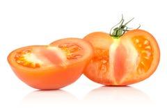Varietà cruda fresca di parcela della La del pomodoro isolata su bianco Fotografie Stock