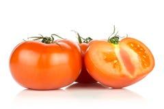 Varietà cruda fresca di parcela della La del pomodoro isolata su bianco Immagini Stock Libere da Diritti