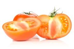 Varietà cruda fresca di parcela della La del pomodoro isolata su bianco Fotografia Stock Libera da Diritti