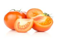 Varietà cruda fresca di parcela della La del pomodoro isolata su bianco Immagini Stock