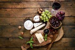 Varietà del formaggio fotografia stock