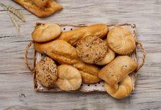 Varietà del pane da sopra Fotografia Stock Libera da Diritti