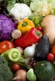 Varietà della priorità bassa delle verdure Immagini Stock Libere da Diritti