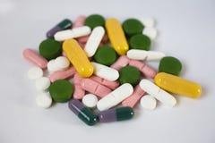 Varietà delle pillole Fotografia Stock