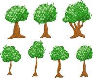 Varietà di alberi del fumetto Fotografia Stock Libera da Diritti