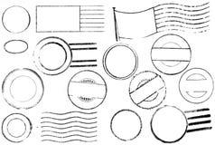Varietà di annata postale e di contrassegni di annullamento Fotografia Stock Libera da Diritti