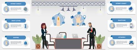 Varietà di applicazioni di comunicazione vicine del campo royalty illustrazione gratis
