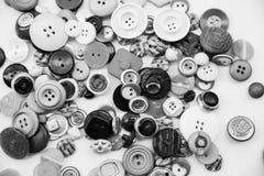 Varietà di bottoni d'annata Fotografie Stock Libere da Diritti