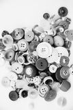Varietà di bottoni d'annata Immagini Stock