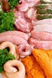 Varietà di carne Fotografia Stock