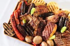 Varietà di carni arrostite col barbecue. Fotografia Stock Libera da Diritti