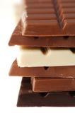 Varietà di cioccolato Fotografia Stock