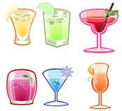 Varietà di cocktail Fotografie Stock Libere da Diritti