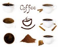Varietà di componente del caffè Fotografia Stock Libera da Diritti