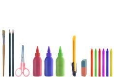 Varietà di elementi della pittura Fotografia Stock
